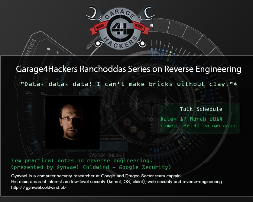 garage4hackers ranchoddas sersier poster