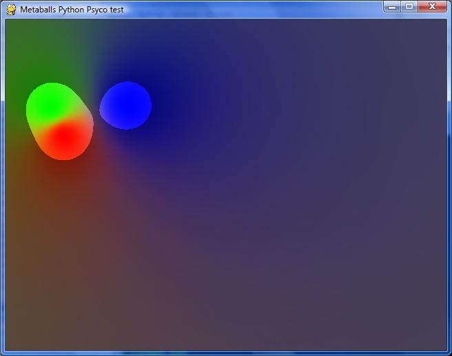 Metaball, Python+Pygame+Psyco and SDL+C++ - gynvael coldwind