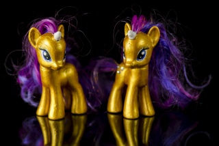 two gold pwnies with ping and violet hair (photo by Arashi Coldwind btw)